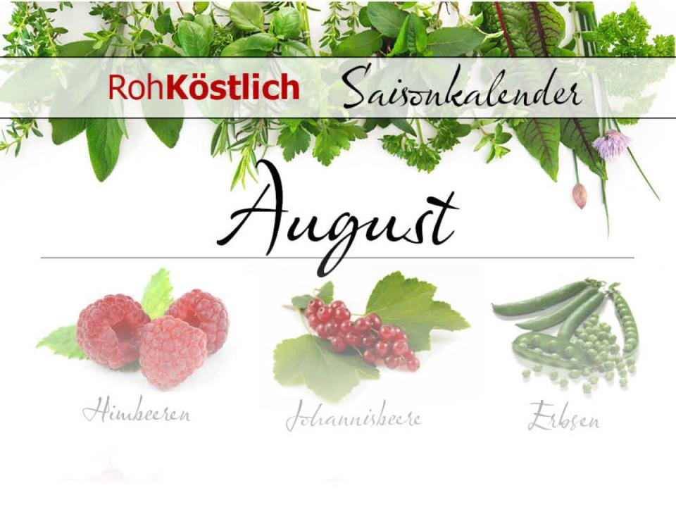 Saisonkalender: August
