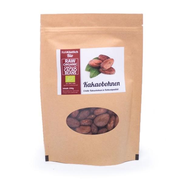 Kakaobohnen - ganz - Bio und Rohkostqualität