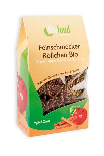Bio Apfel Zimt Röllchen - Feinschmecker Röllchen  von LifeFood