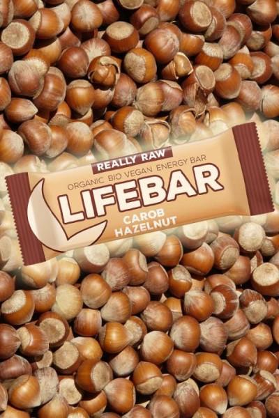 Bio Lifebar Carob Haselnuss - Rohkostriegel