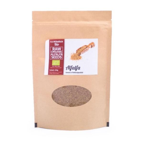 Alfalfa Samen - Bio und Rohkostqualität - 250g