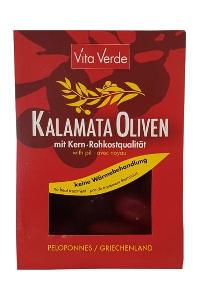 Bio Kalamata Oliven mit Kern von Vita Verde