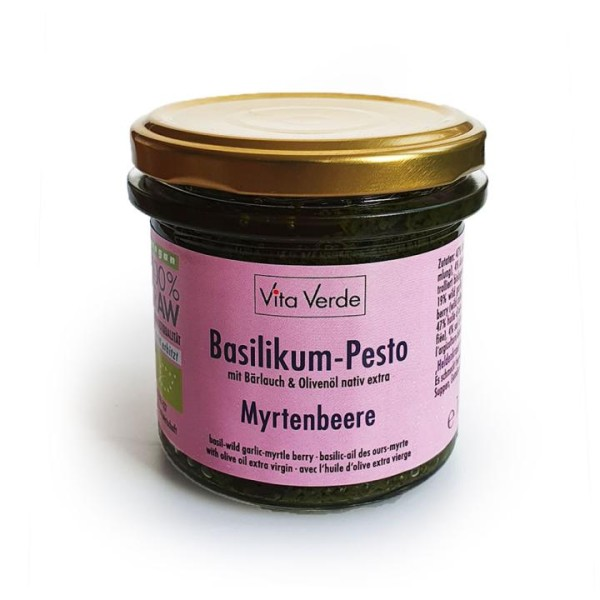 Bio Basilikum - Myrtenbeere Pesto - Heldenkraut