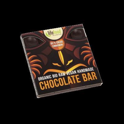 Lifefood Schokolade - 95 % Kakao mit Zimt - Bio und Rohkostqualität 35g
