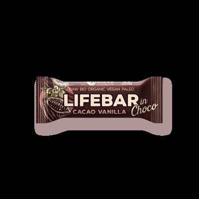 Lifebar InChoco - Kakao Nibs Vanille ROH BIO - Rohkostriegel