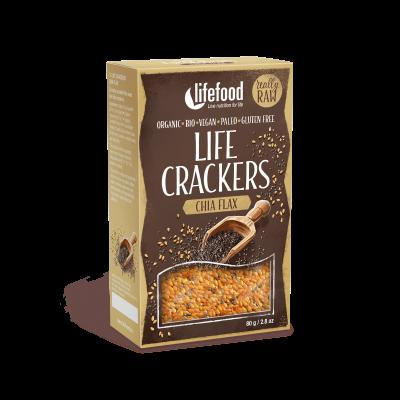 Life Crackers - Chia ohne Salz - Bio und Rohkostqualität