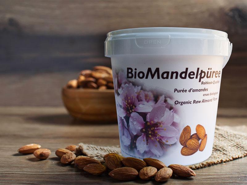 Bio Mandelpüree von Soyana - ein Grundnahrungsmittel der Rohkost-Ernährung