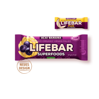 Lifebar Plus - Açai + Banane - Bio und Rohkostriegel